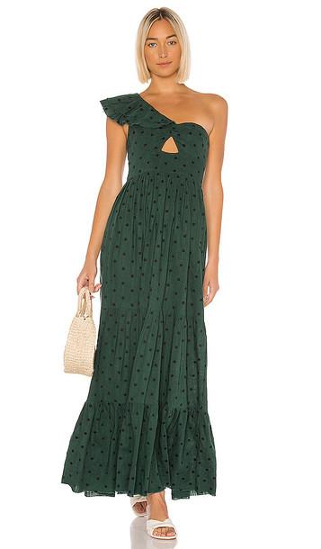 Tularosa Winnie Dress in Dark Green