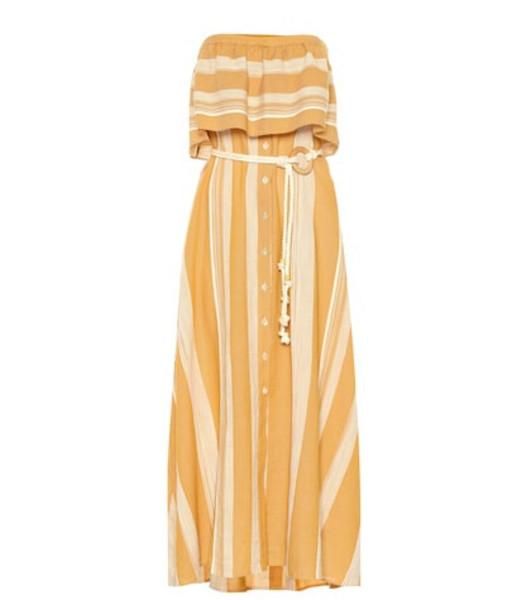 Lemlem Derartu strapless cotton dress in orange