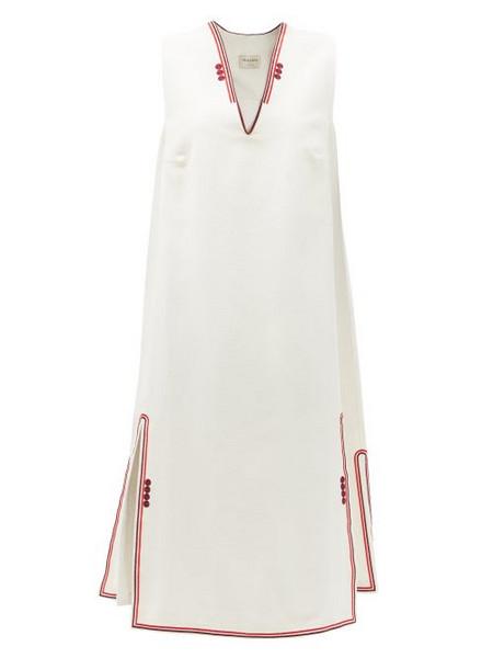 Zeus + Dione Zeus + Dione - Samos Embroidered Silk Dress - Womens - Ivory