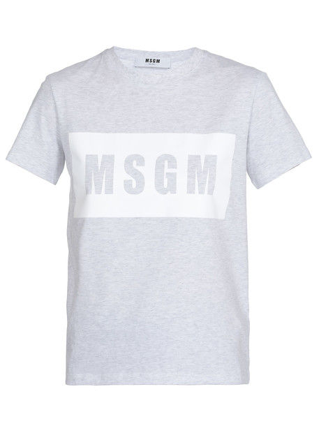 MSGM Cotton T-shirt in blue
