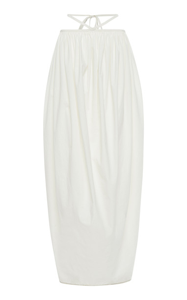 Christopher Esber Ruched Cocoon Tie Skirt Size: 6 in white
