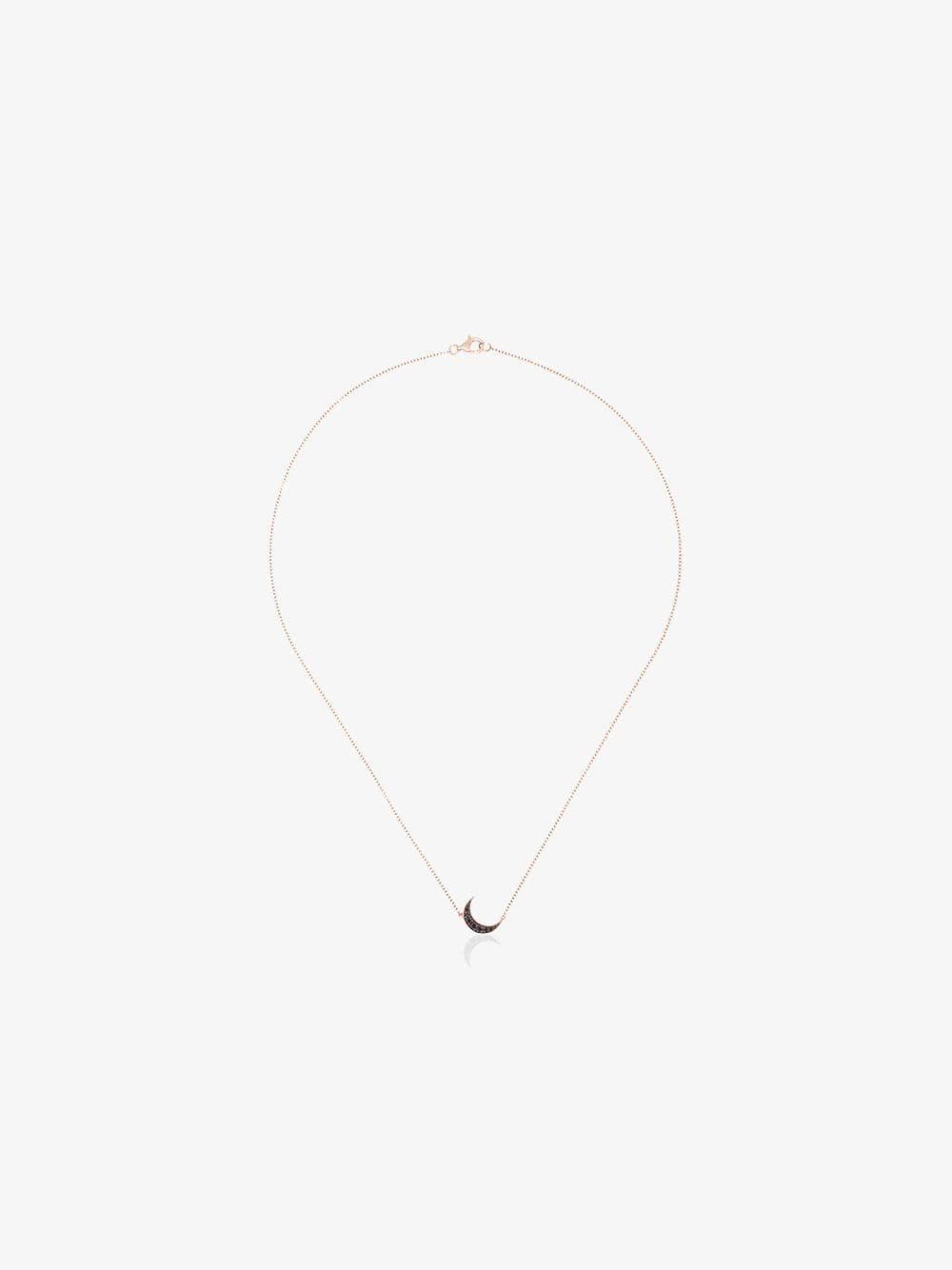 Andrea Fohrman mini crescent diamond necklace in gold