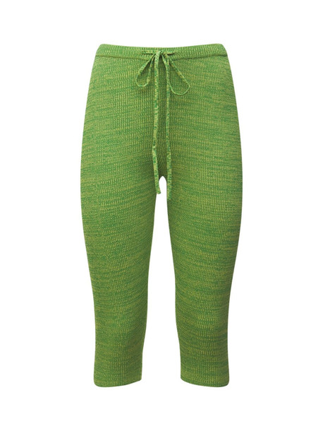 CHRISTOPHER ESBER Stretch Viscose Knit Biker Shorts in green