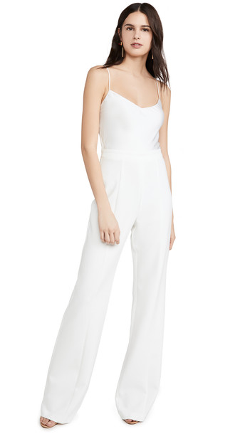 Black Halo Saxon Jumpsuit in white