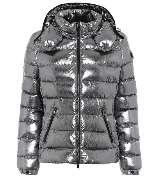 Moncler Bady metallic down jacket in silver