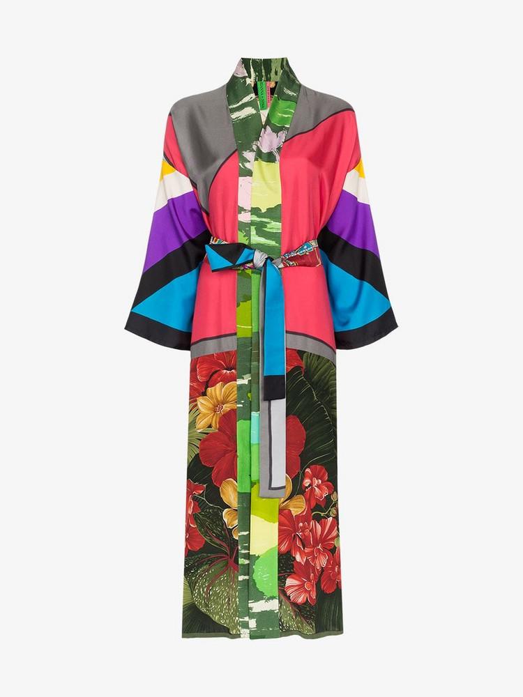 Rianna + Nina Rianna + Nina panelled floral print silk kimono