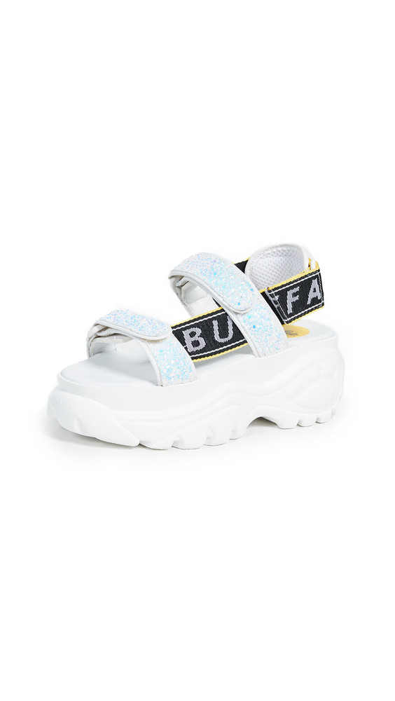 Buffalo London Ella Classic Kicks Sandals in white