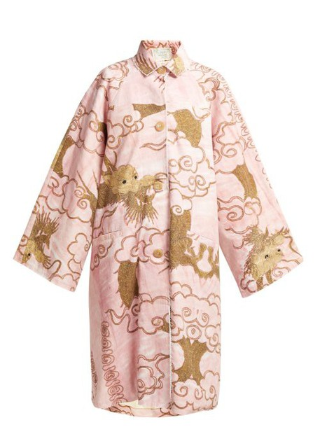 By Walid - Dorothee Antique Cotton Coat - Womens - Pink Multi
