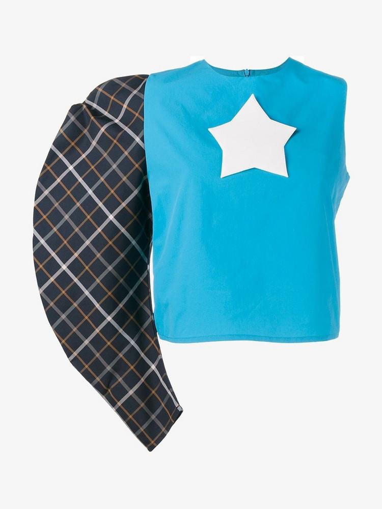 A.W.A.K.E. A.W.A.K.E. Mode one sleeve star logo top in blue