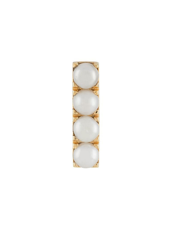 Northskull pearl stud bar earring in gold