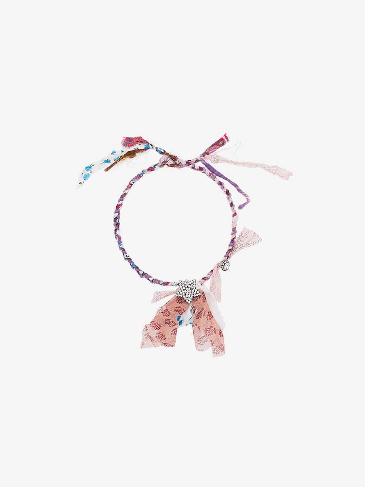 Dannijo Daphne Plaited Necklace in pink / purple