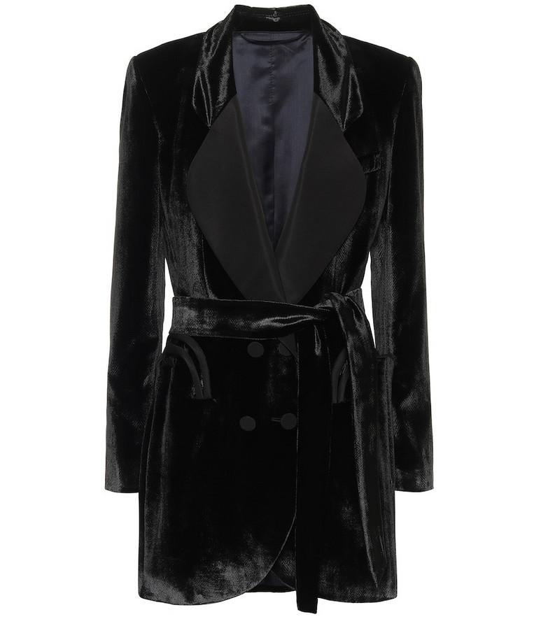 Blazé Milano Étoile velvet dress in black