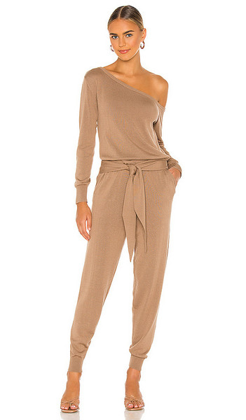MAJORELLE Charlotte Jumpsuit in Tan in taupe
