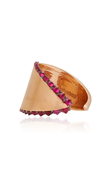 TULLIA 14K Rose Gold Ruby Ring