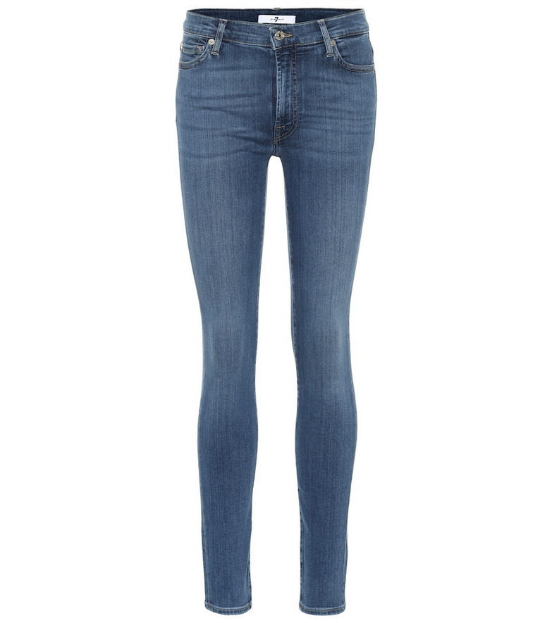 7 For All Mankind Slim Illusion Luxe high-rise skinny jeans in blue