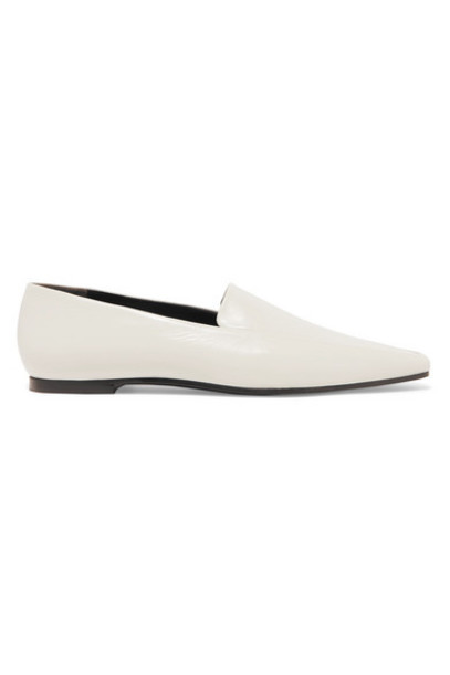 The Row - Minimal Leather Loafers - White