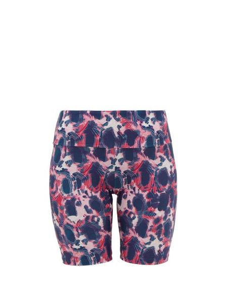 Thorsun - Blake Tie Dye Biker Shorts - Womens - Pink Multi
