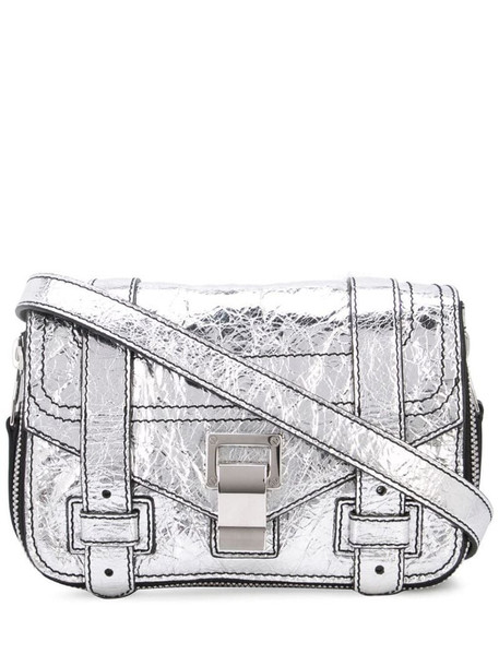 Proenza Schouler Ps1+ Mini Cross Body Bag in silver