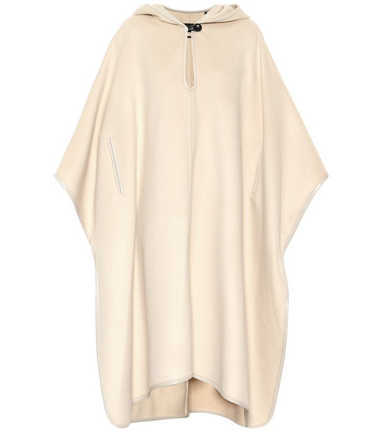 Isabel Marant Eowyn hooded cotton poncho in yellow