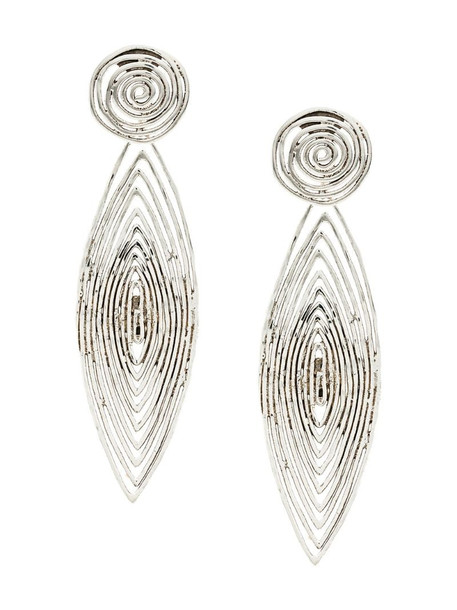 Gas Bijoux Long Wave earrings in metallic