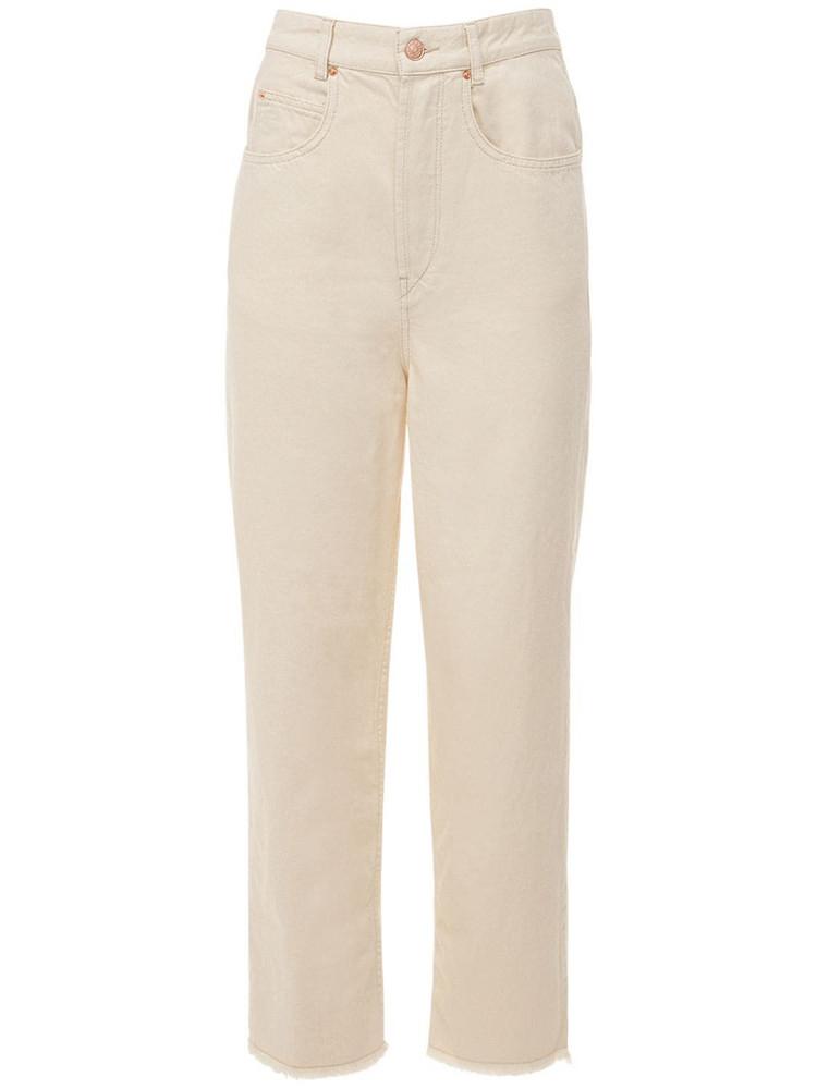 ISABEL MARANT Laliskasr Wide Leg Denim Jeans in ecru