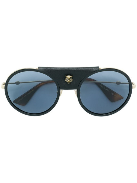 Gucci Eyewear oversized round sunglasses in black