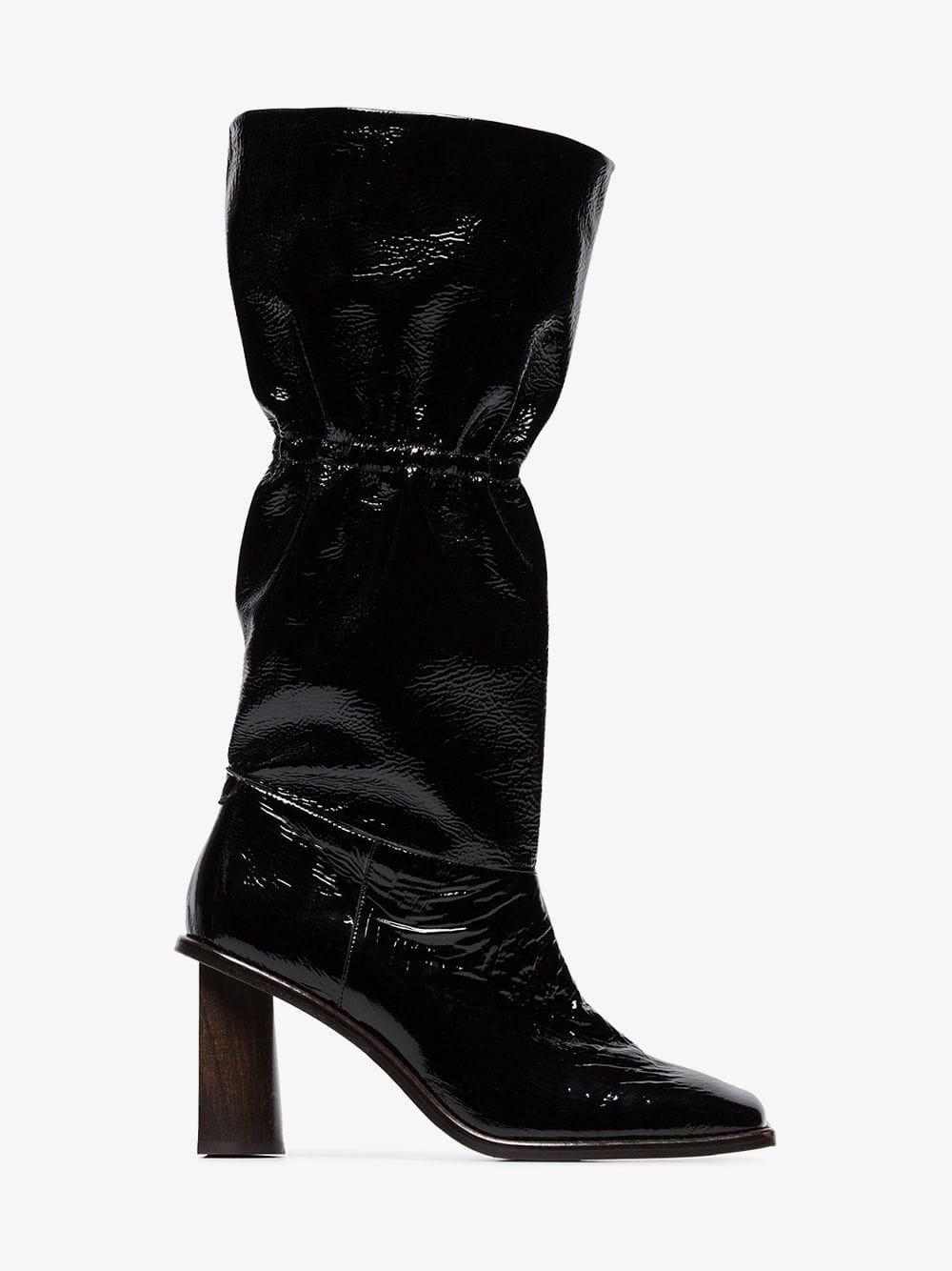 Rejina Pyo Rina 70 goat skin boots in black