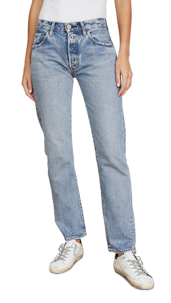 MOUSSY VINTAGE Norwalk Straight Jeans in blue
