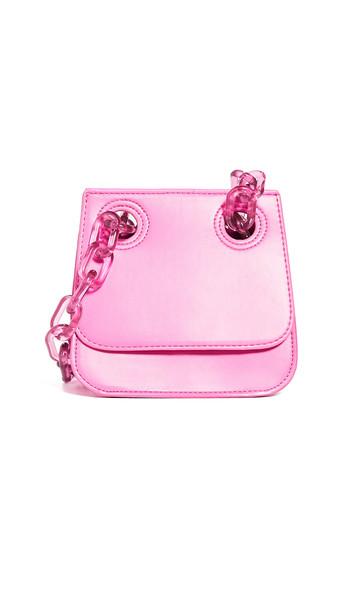 Studio 33 Woke Flap Shoulder Bag in pink