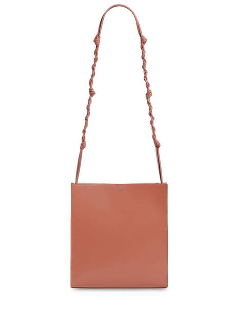 JIL SANDER Tangle Medium Leather Shoulder Bag in pink