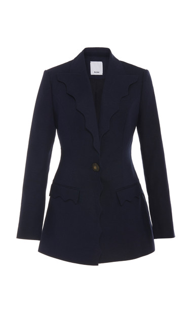 Acler Aslo Scallped Single-Button Blazer Size: 4 in black