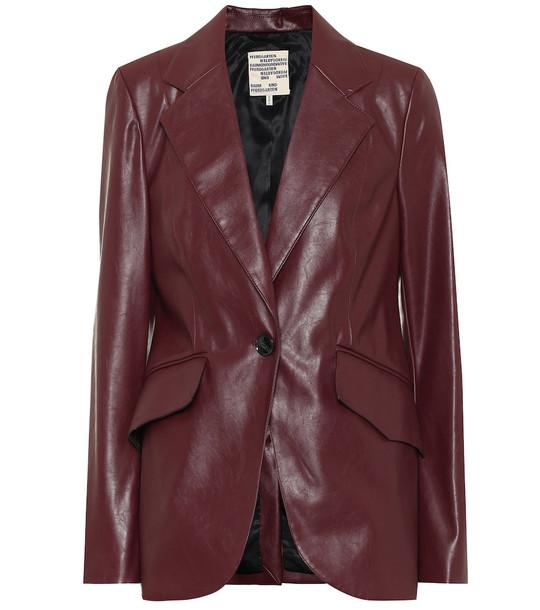 Baum und Pferdgarten Exclusive to Mytheresa – Beyonce faux leather blazer in red