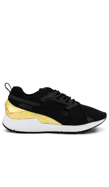 Puma Muse X-2 Metallic Sneaker in Black