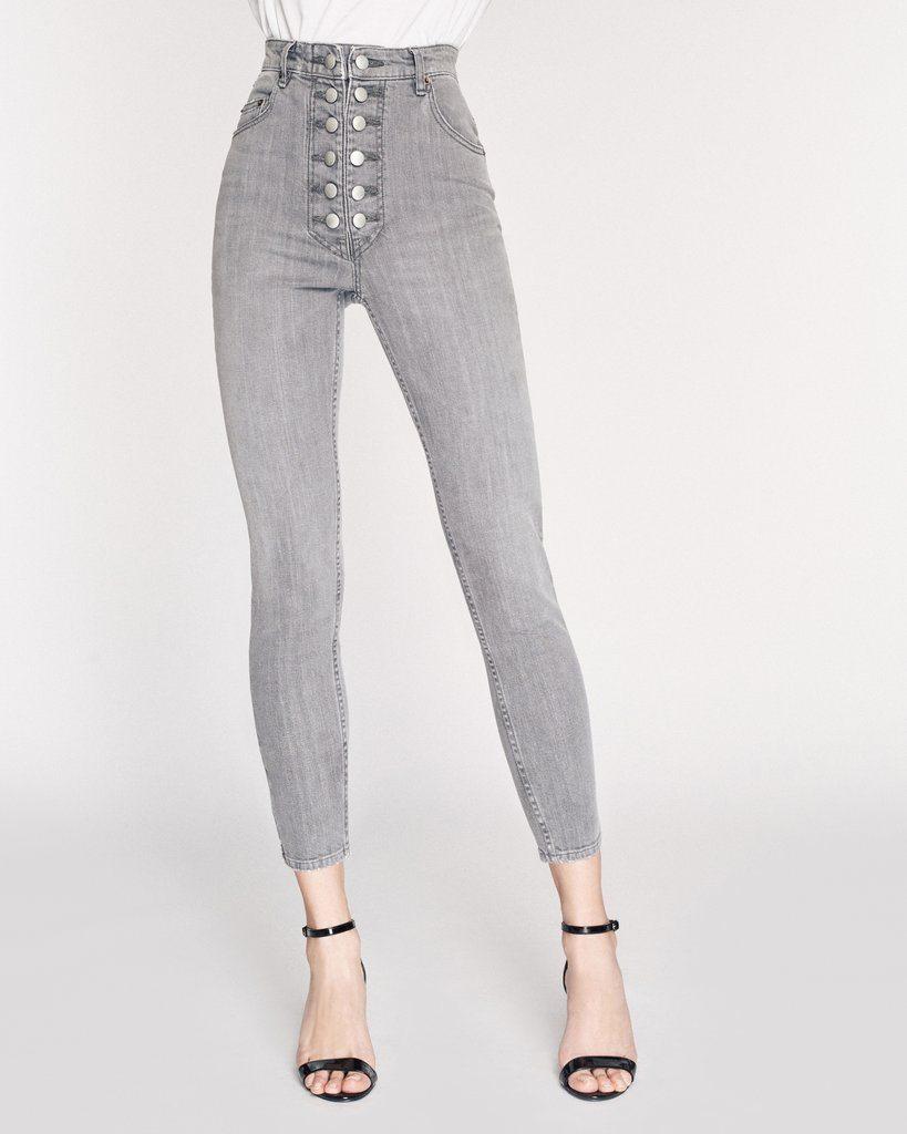 Emma Denim Pant in Grey Stone Wash