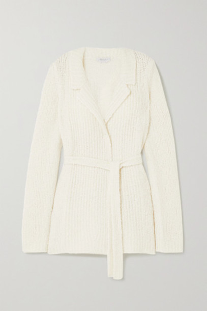 Gabriela Hearst - Coles Belted Cashmere And Silk-blend Bouclé Blazer - Ivory