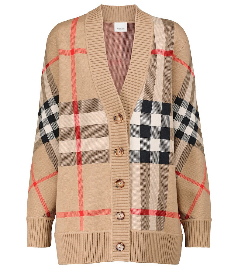 Burberry Vintage Check jacquard cardigan in beige