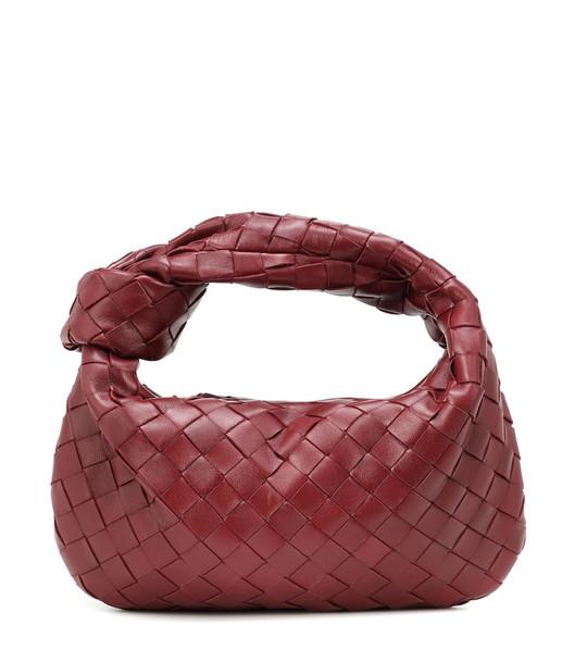 Bottega Veneta BV Jodie Mini leather shoulder bag in red
