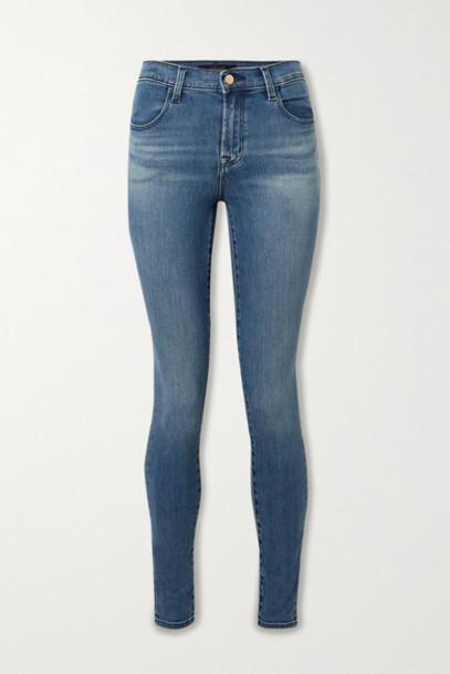 J Brand - Maria High-rise Skinny Jeans - Mid denim