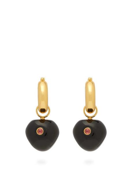 Lizzie Fortunato - Black Cherry Hoop Earrings - Womens - Black