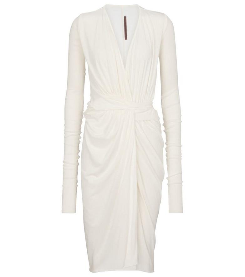 Rick Owens Lilies draped midi dress in white