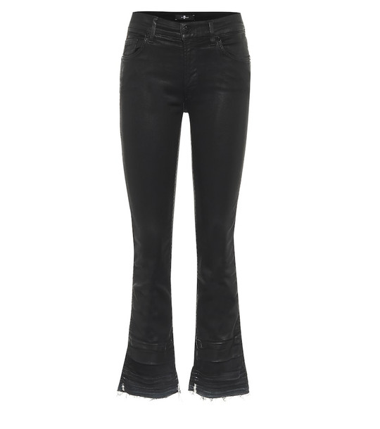 7 For All Mankind Cropped mid-rise jeans in black