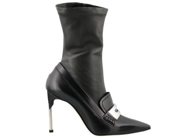 Alexander Mcqueen Metal Bar Moccassin Boot in black