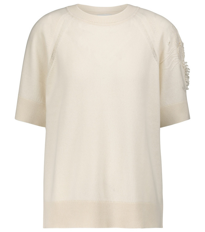 Barrie Cashmere top in white
