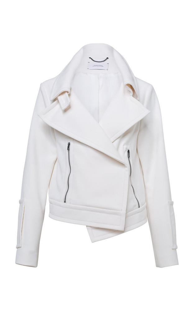 Dorothee Schumacher Sophisticated Perfection Crepe Jacket in white