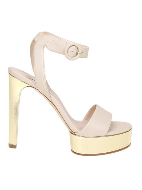 Casadei Ecru 'leather Sandal