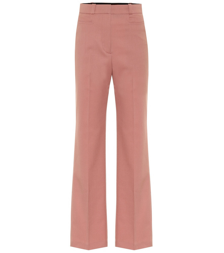 AlexaChung High-rise straight pants in pink