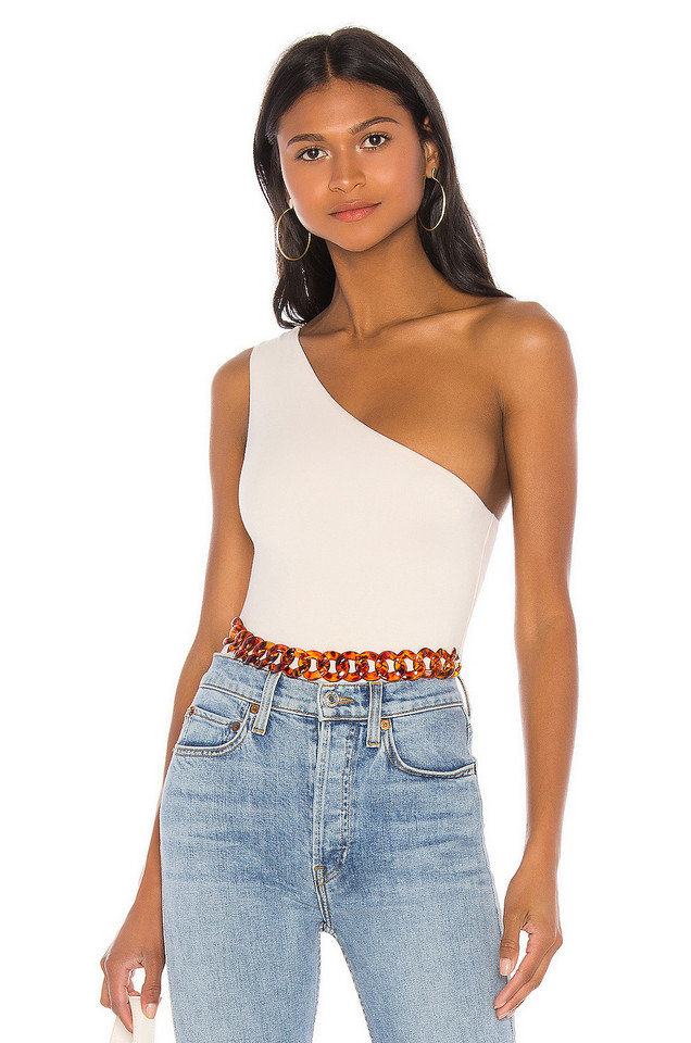 L'Academie The Desi Bodysuit in ivory