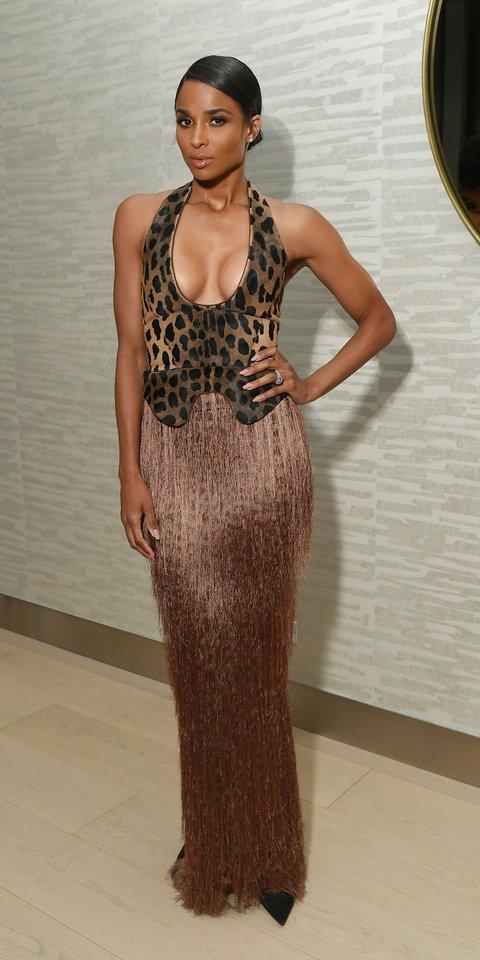 dress ciara celebrity gown prom dress maxi dress celebrity style animal print leopard print