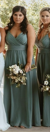 dress,bridesmaid,long dress,sage