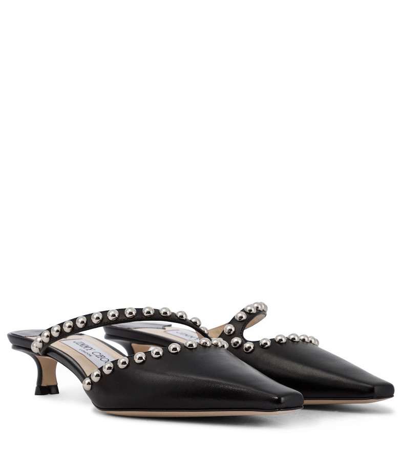 Jimmy Choo Ros 35 embellished leather pumps in black